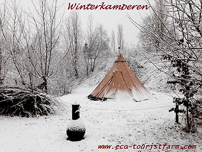 winterkamperen op Eco-Touristfarm de Biezen in Aarle-Rixtel